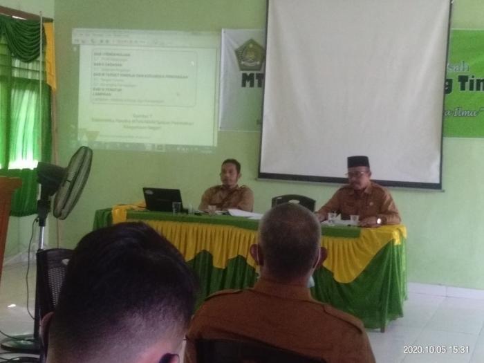 Kegiatan Penyusunan Renstra MTs Negeri 2 Tanjung Jabung Timur